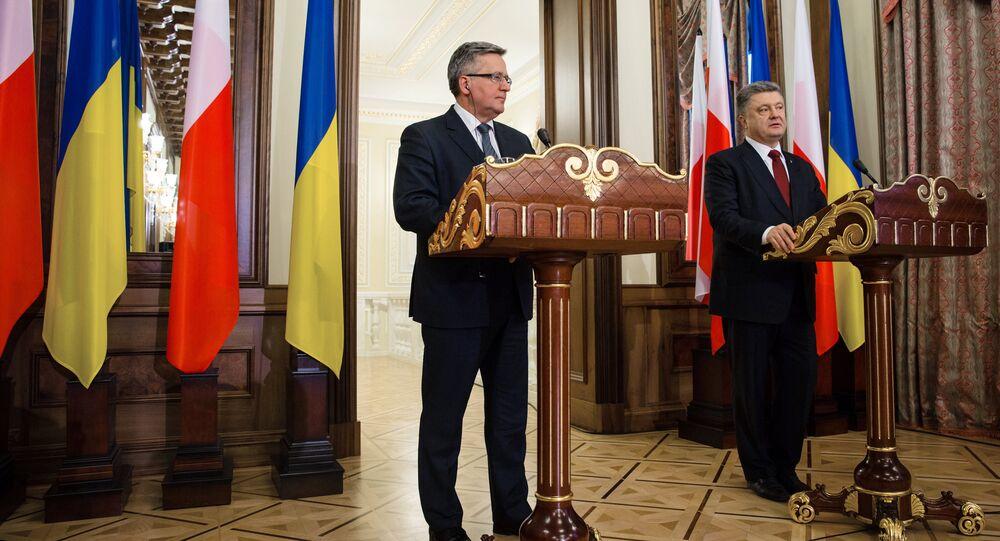 Spotkanie prezydenta Ukrainy Petra Poroszenki z prezydentem Polski Bronisławem Komorowskim