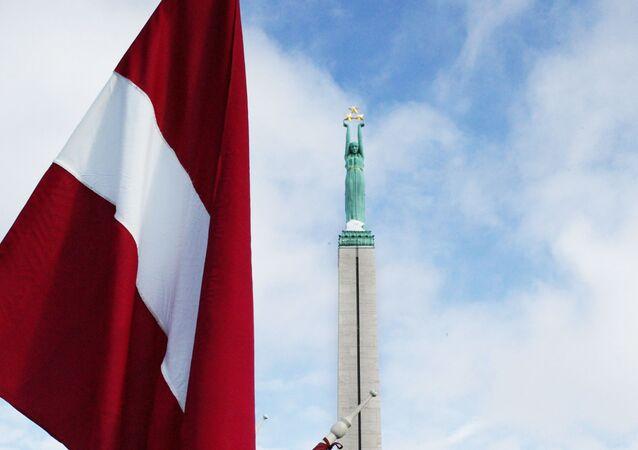 Łotewska flaga w Rydze