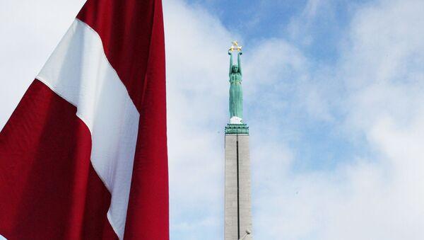 Łotewska flaga w Rydze - Sputnik Polska