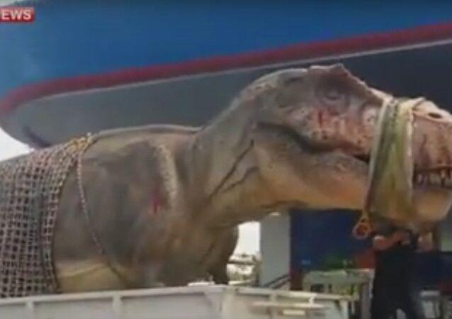 Dinozaur w Bangkoku