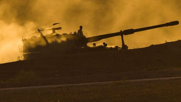 Turecka artyleria na granicy z Syrią - Sputnik Polska