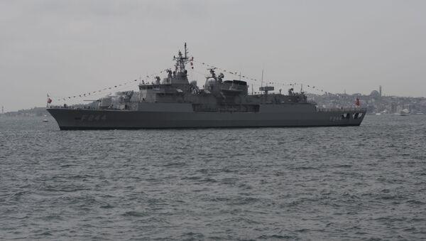 Fregata TCG Barbaros tureckiej marynarki wojennej - Sputnik Polska