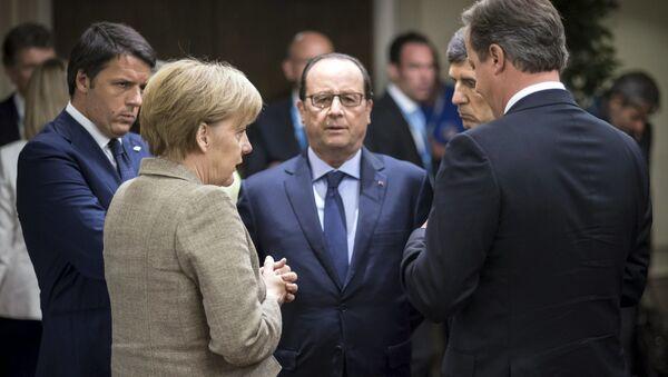 Przywódcy Francji - Francois Hollande, Niemiec - Angela Merkel, Wielkiej Brytania - David Cameron i Włoch - Matteo Renzi - Sputnik Polska