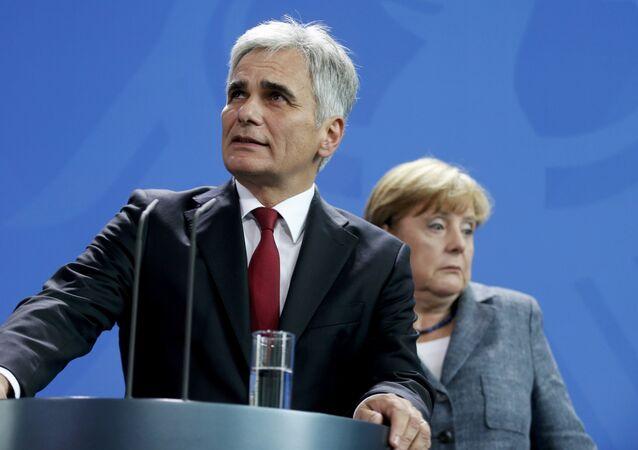 Werner Faymann i Angela Merkel