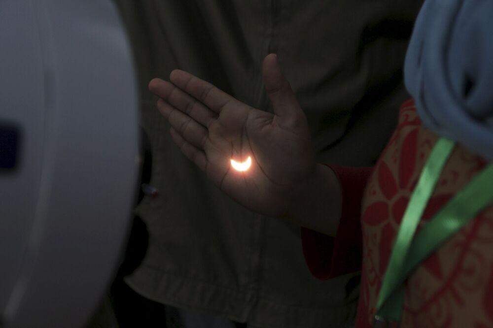 Zaćmienie słońca w Indonezji