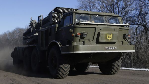 Wyrzutnie Smiercz należące do ukraińskie armii - Sputnik Polska
