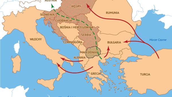 Trasa ruchu migrantów - Sputnik Polska