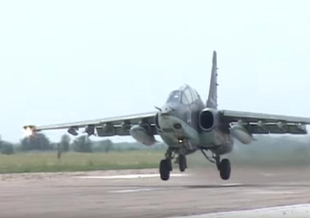 Rosyjskie samoloty szturmowe Su-25