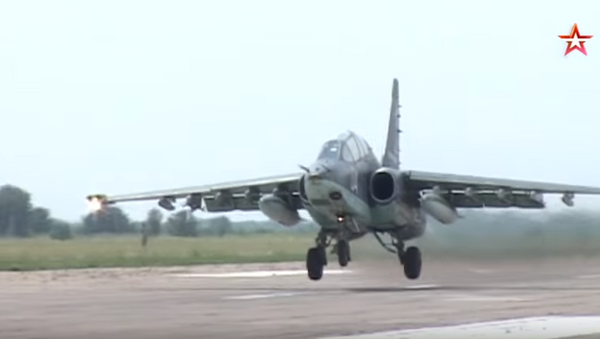 Rosyjskie samoloty szturmowe Su-25 - Sputnik Polska