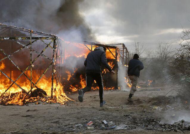 Obóz imigrantów w Calais, Francja
