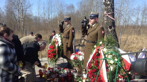 Uroczystości upamiętniające ofiary katastrofy Tu-154 w Smoleńsku - Sputnik Polska