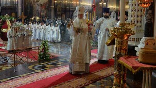 Liturgia paschalna w Soborze Chrystusa Zbawiciela w Moskwie - Sputnik Polska