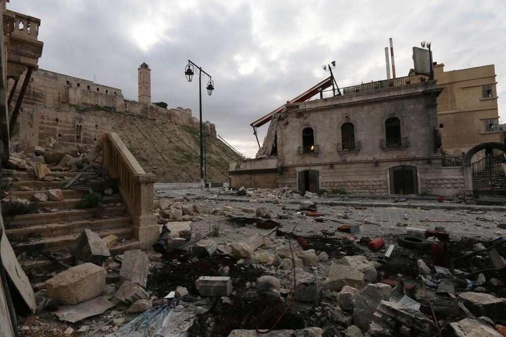 Ruiny cytadeli Aleppo