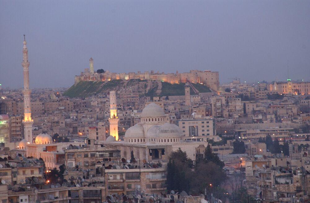 Widok na miasto Aleppo, 17 marca 2006 r.
