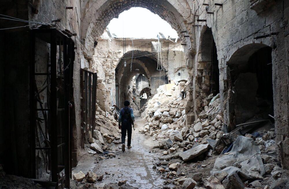 Ruiny starego miasta w Aleppo