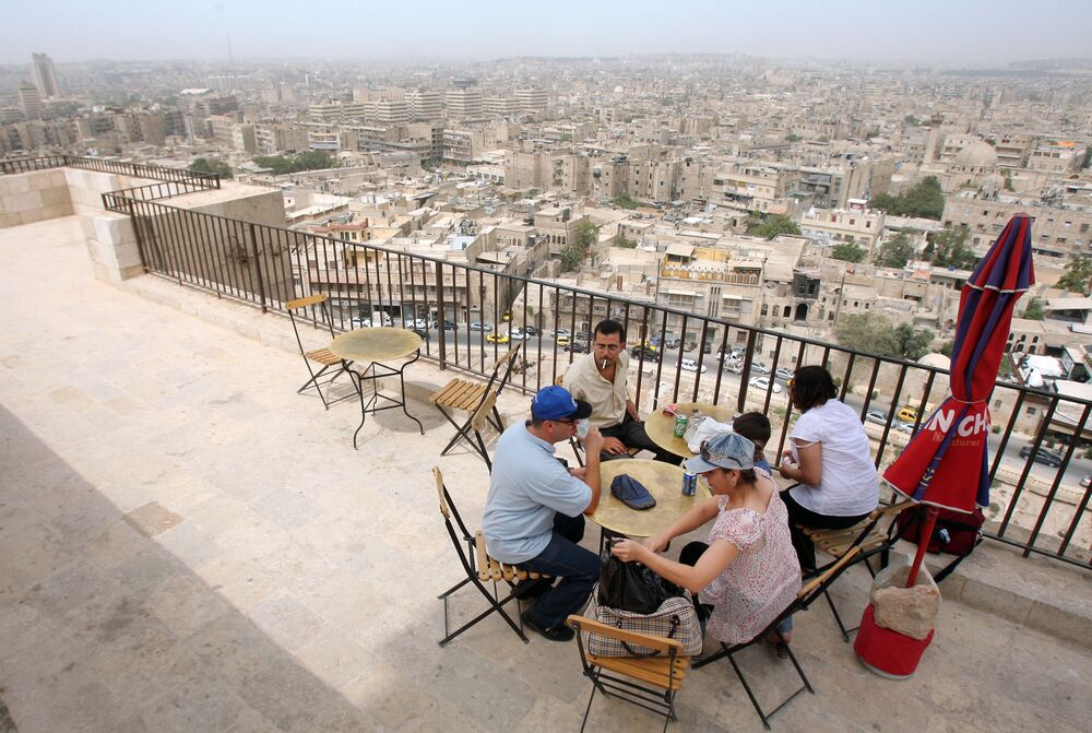 Widok na miasto Aleppo