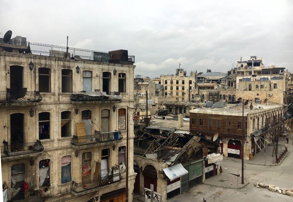 Syryjskie miasto Aleppo