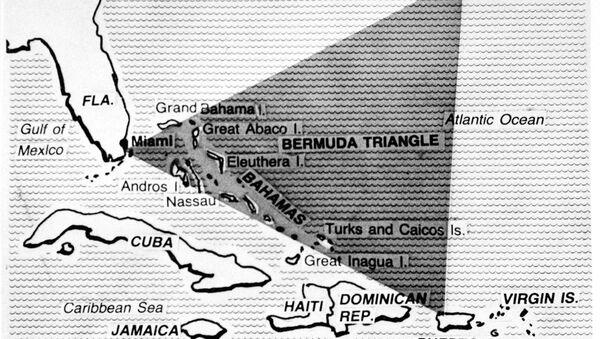 Trójkąt Bermudzki na mapie - Sputnik Polska