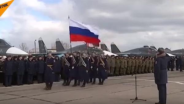 Piloci wojskowi wrócili do domu z Syrii - Sputnik Polska