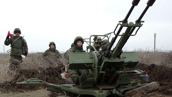 Wyrzutnia artyleryjska ZU-23 - Sputnik Polska