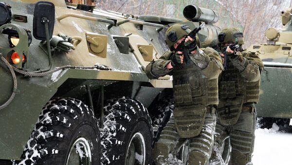 Żołnierze batalionu szturmowego wojsk inżynieryjnych Federacji Rosyjskiej - Sputnik Polska