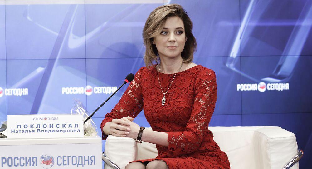 Natalia Pokłonska na konferencji prasowej