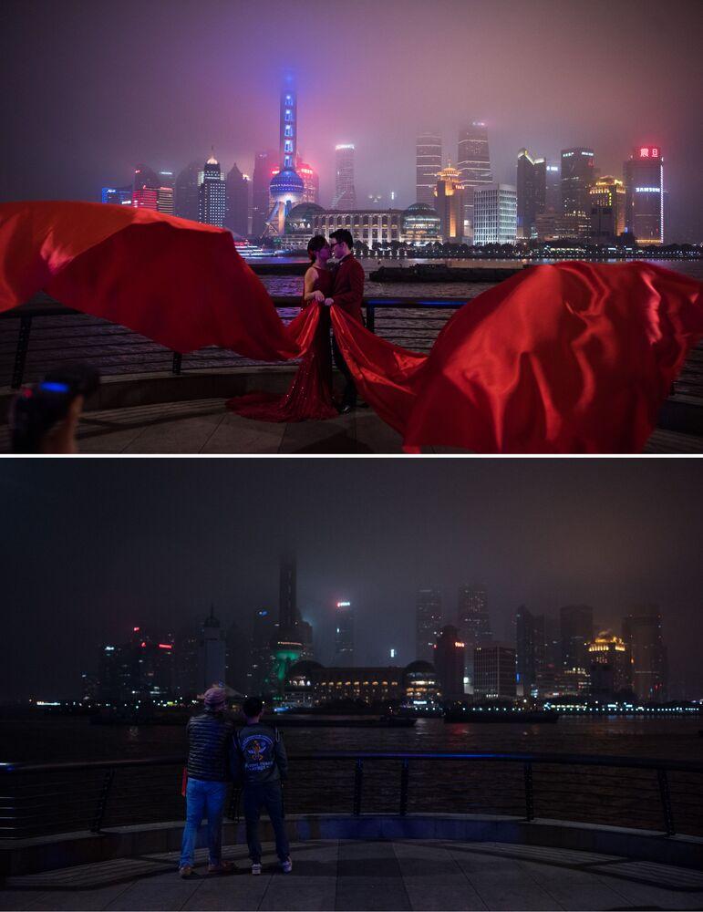 Widok na Szanghai
