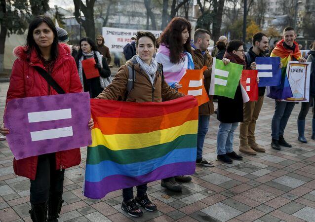 Działacze na rzecz praw osób homoseksualnych w Kijowie, 2015 rok