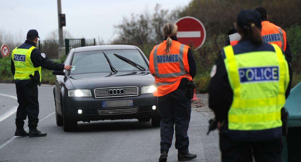 Kontrola graniczna na granicy francusko-belgijskiej