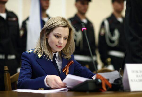 Prokurator Krymu Natalia Pokłońska podczas ceremonii zaprzysiężenia - Sputnik Polska