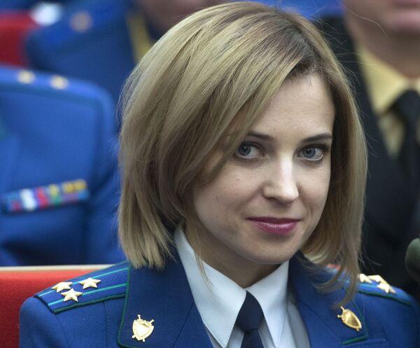 Prokurator Krymu Natalia Pokłońska w Moskwie - Sputnik Polska