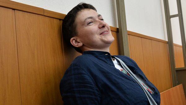 Obywatelka Ukrainy Nadieżda Sawczenko podczas ogłoszenia wyroku w jej sprawie - Sputnik Polska