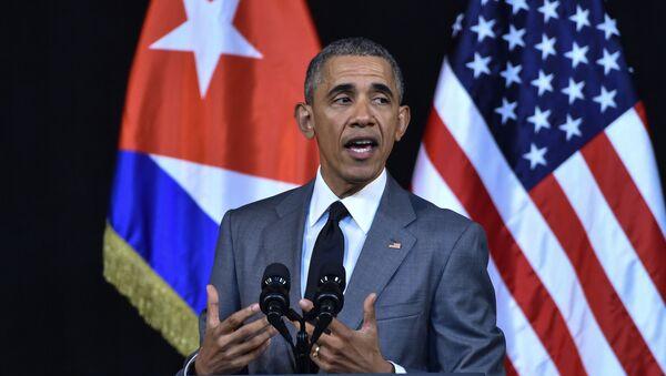 Prezydent USA Barack Obama podczas oficjalnej wizycie na Kubie - Sputnik Polska