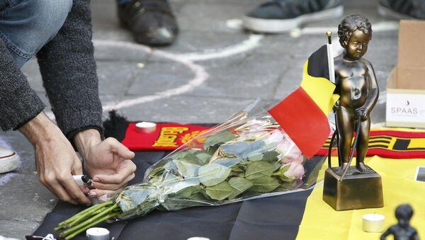 Solidarność z ofiarami zamachów w Brukseli - Sputnik Polska