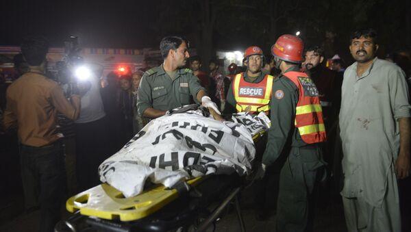 Zamach w mieście Lahaur na wschodzie Pakistanu - Sputnik Polska