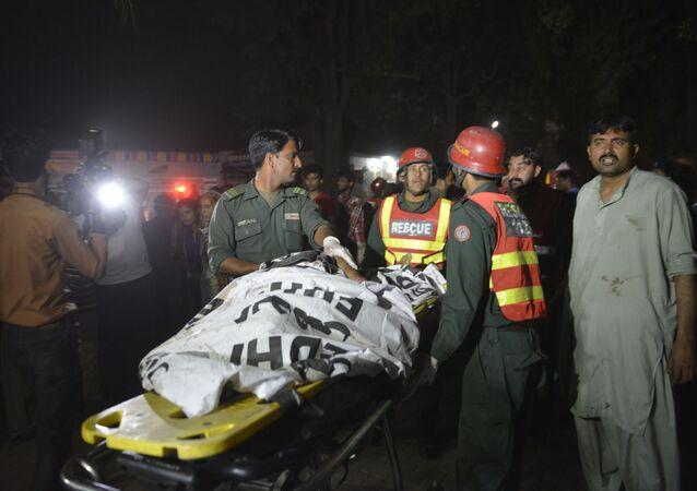 Zamach w mieście Lahaur na wschodzie Pakistanu