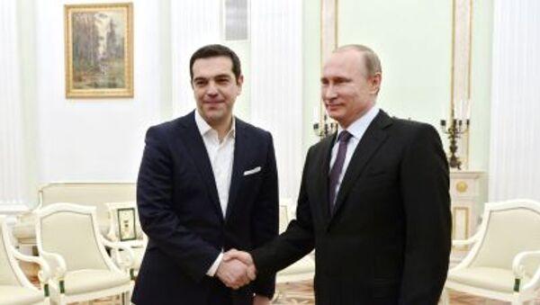 Aleksis Tsipras i Władimir Putin - Sputnik Polska