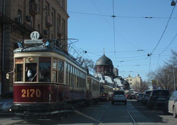 Parada tramwajów w Moskwie - Sputnik Polska