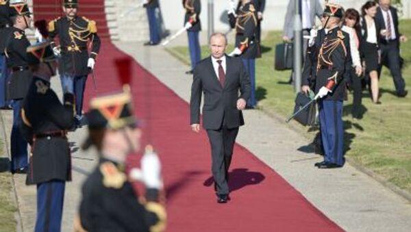 Wizyta prezydenta Władimira Putina we Francji, 5 czerwca 2014 - Sputnik Polska