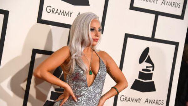 Amerykańska piosenkarka Lady Gaga w Los Angeles, 8 lutego 2015 - Sputnik Polska
