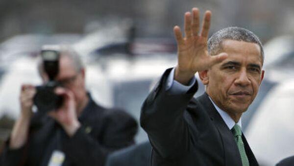 Prezydent USA Barack Obama w Waszyngtonie, 17 marca 2015 - Sputnik Polska