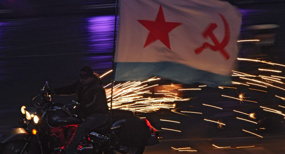 Nocne Wilki podczas ceremonii  zakończenia festiwalu Spasskaja Basznia 2011