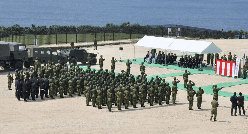 Garnizon Japońskich Sił Samoobrony na wyspie Yonaguni, 28 marca 2016 roku