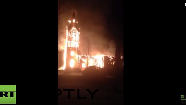 W Finlandii spłonął zabytkowy kościół - Sputnik Polska