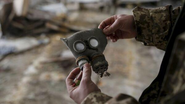 Maska przeciwgazowa dla dzieci w mieście Prypeć - Sputnik Polska