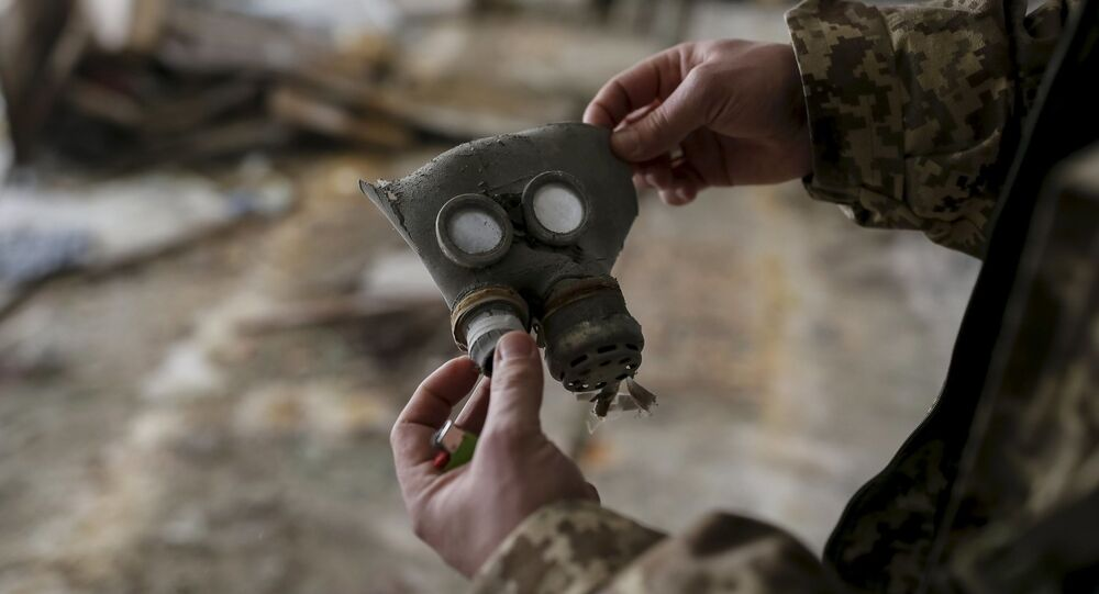 Maska przeciwgazowa dla dzieci w mieście Prypeć