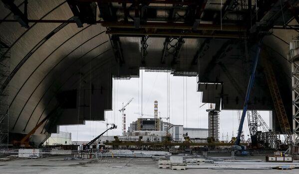 Widok na Czarnobylską Elektrownią Jądrową - Sputnik Polska