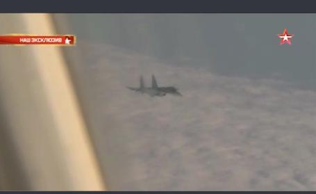 Myśliwce NATO towarzyszyły samolotowi Szojgu - WIDEO