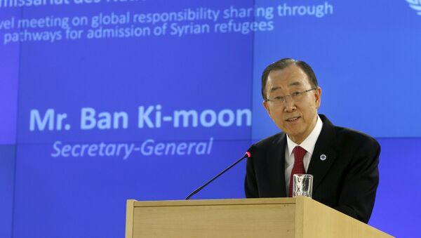 Sekretarz generalny ONZ Ban Ki-moon w Genewie - Sputnik Polska