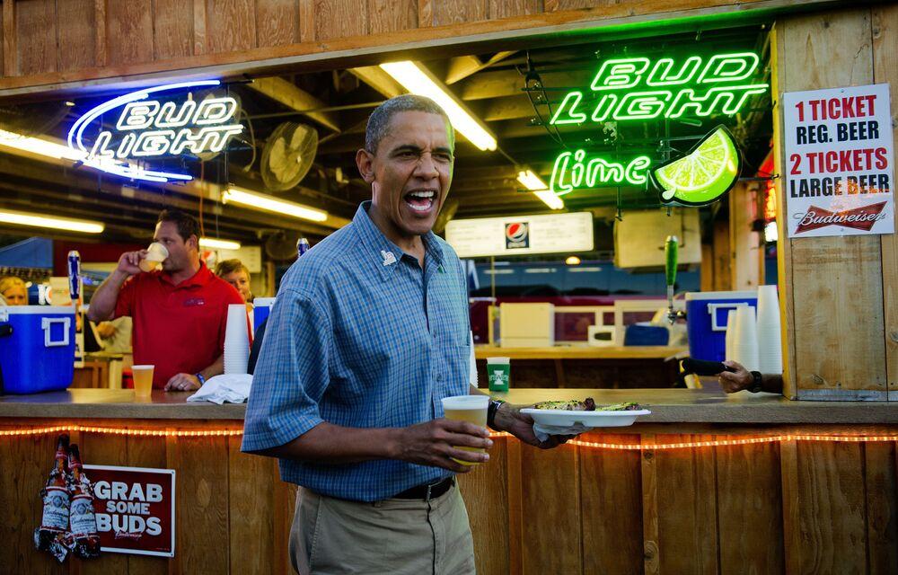 Prezydent Barack Obama w mieście Des Moines stanu Iowa